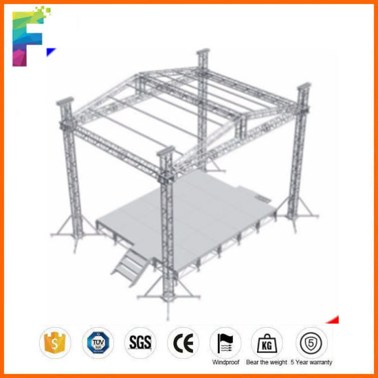 Full Customized Size Outdoor Concert Stage Roof Truss Design For Hanging Led Screen