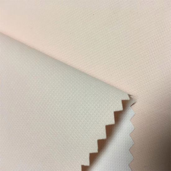 Polyester Ripstop Pongee Fabric Bonded Knitted Tricot Mesh Fabric with Milky PU Film Inside