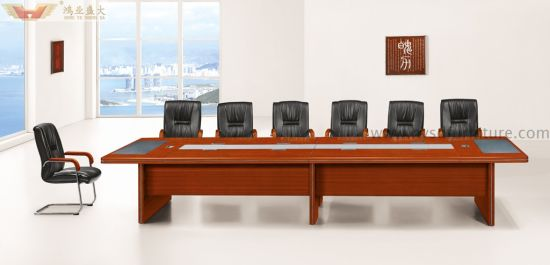 Large Conference Contract Veneer Meeting Table Office Furniture (HY-A9445)