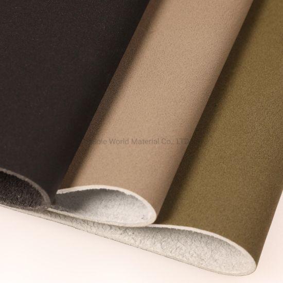 Nubuck Microfiber PU Imitation Leather for Shoes Furniture Bags