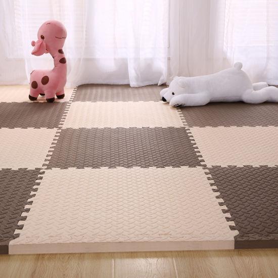 China Dark Wood Trim Puzzle Eva Foam Tiles Mats Eva Foam Flooring