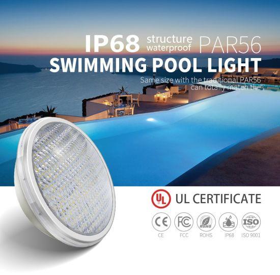 ABS Anti-UV Material 15W 12V IP68 PAR56 LED Pool Lighting for Swimming Pool Light with UL/TUV