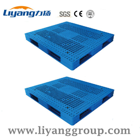 Large Sizes 140X160cm Strong Plastic Pallets For Salt Warehouse Stacking