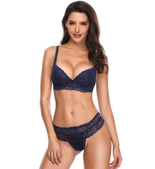Comfortable Woman Underwear Sexy Lace Bra Set