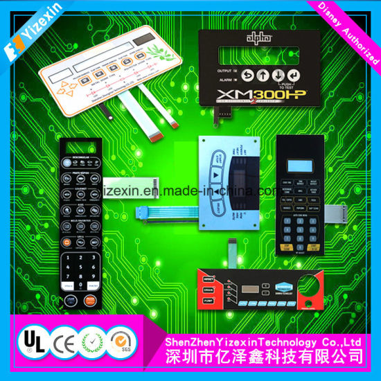 China Sofo Copper Circuit Membrane Keypad Switch with LED