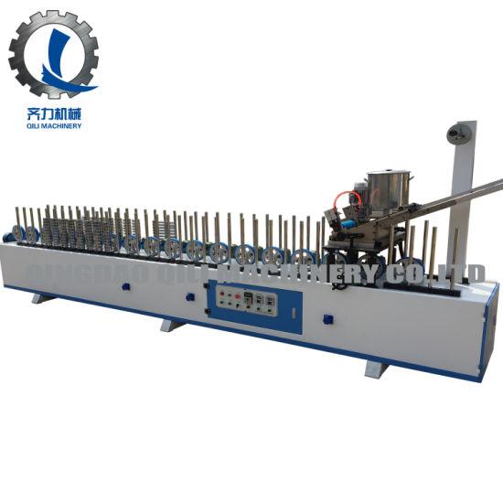 Ql300bf-B Hot Melt Glue Wood Veneer Profile Wrapping Machine