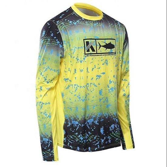 Factory Price Hot Sale Mens 100% Polyester Performance Anti UV Sublimation Vent Fishing Shirt