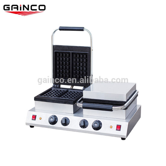 Double Waffle Maker Commercial Catering Kitchen Non-Stick Plate Food Machine