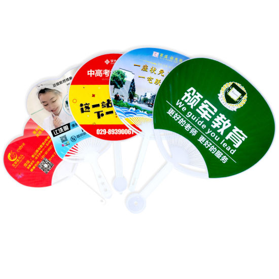 Promotional Different Shape Cheap OEM PP Advertising Fan