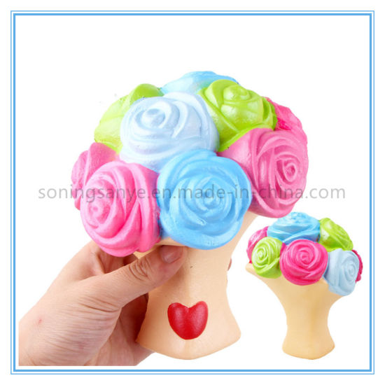 DTY0088 Flower PU Foam Squishy Toys