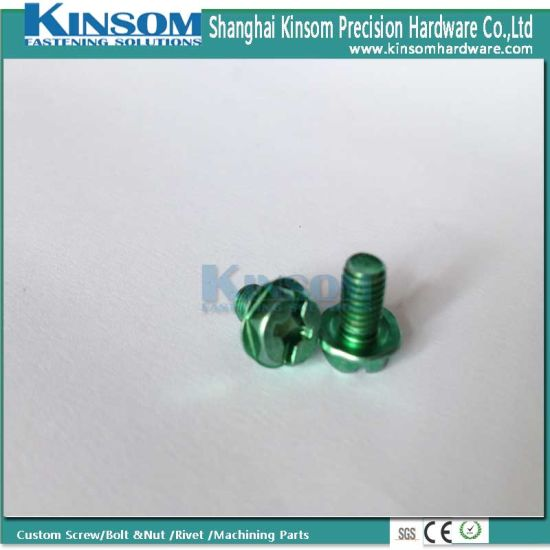 Color Zinc Coating Phillips Slot Indented Hexagon Machine Screws pictures & photos