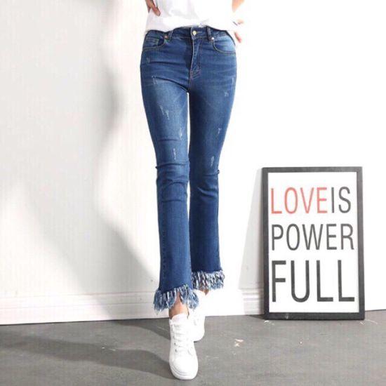 Fashion Women Light Blue Denim Women Jeans