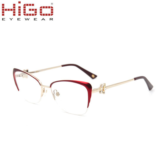 2018 China Fashion Woman Diamond Stainless Steel Glasses Frame