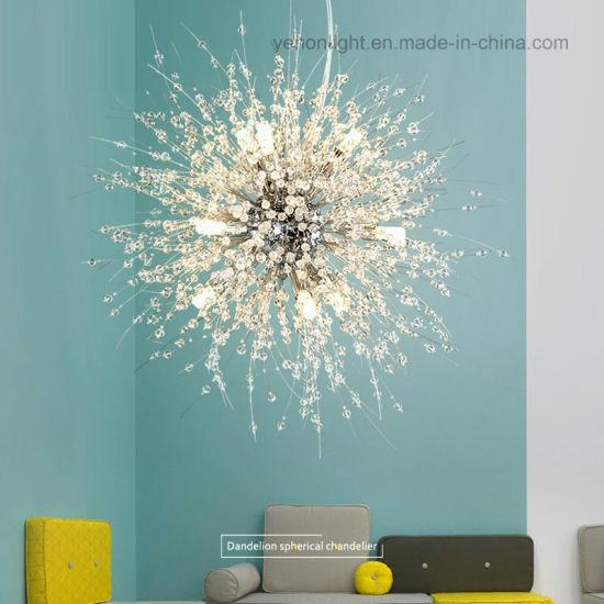 finest selection e557f ece26 China Modern K9 Crystal Dandelion Pendant Light LED Flower ...