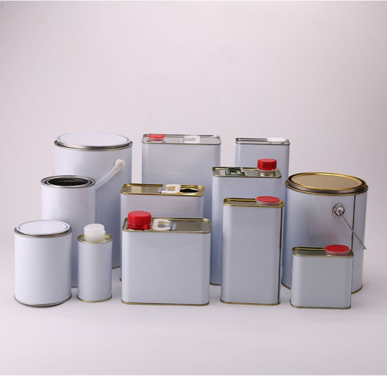 Custom Empty Metal Cans for Chemicals Paint, Lubricant, Edible Oil