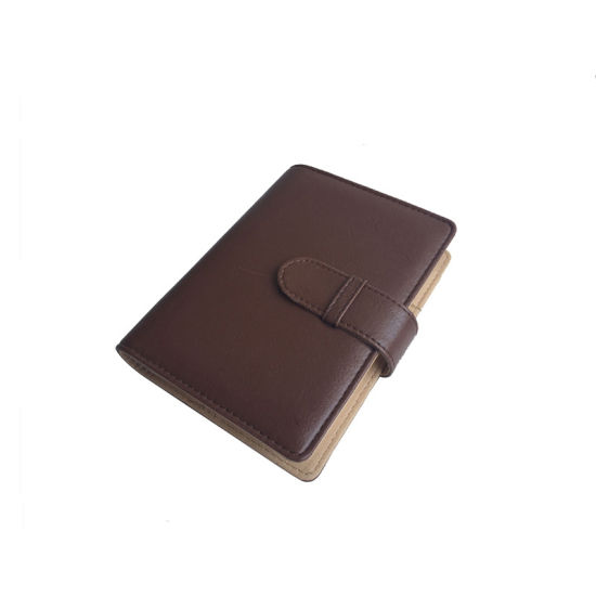 A5 Brown Color with Magnetic Closure PU Hardcover Notebook