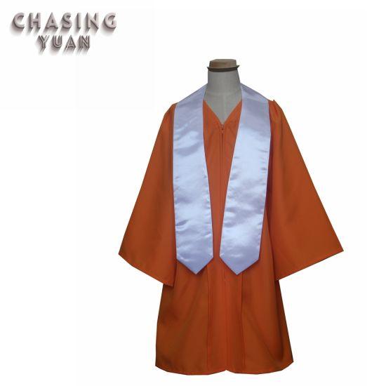 4001ac57f14 China Matte Orange Graduation Sash Gown for 2019 Primary School ...