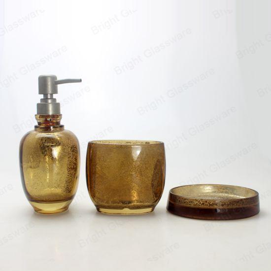 China Supplier Hotel Home Decoration Modern Brown Bathroom Accessories Sets