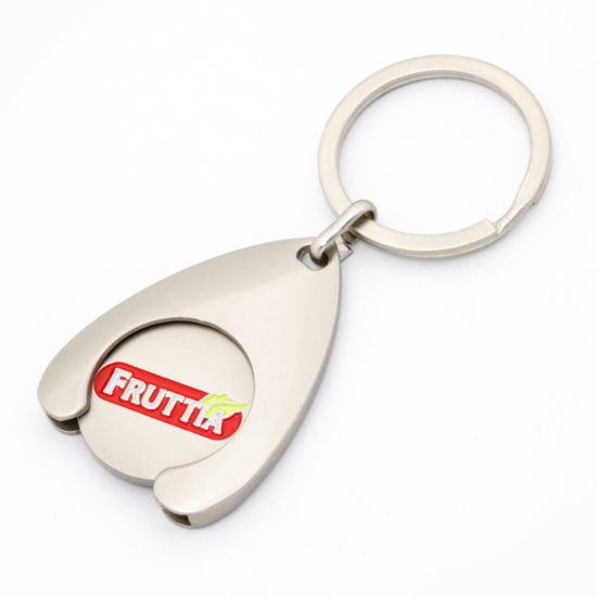 Cheap Custom Token Coin Sublimation Metal Keyring Plastic New Design Game Lock Trolley Coin Blank Supermarket Car Wash Key Chain Canadian Shopping Cart Coin pictures & photos