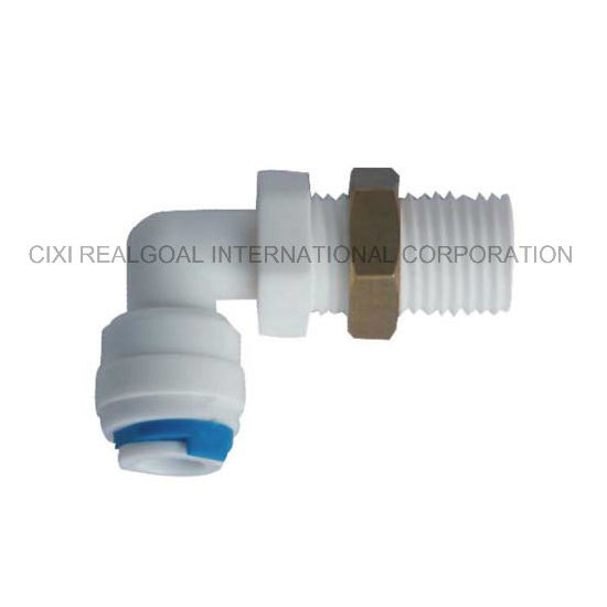 "RO Quick Fitting Manufacturer Elbow 1/4""Male X 1/4"" Tube RO Pipe Quick Fitting Connect for RO System Water Filter Purifier"