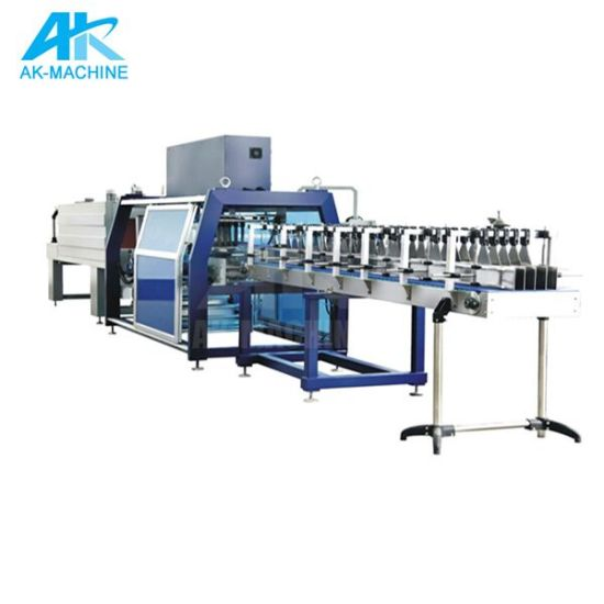 35 Pack/Min High Speed Pet Round Bottle Shrink Wrapping Machine/Ak-350A Automatic Shrink Packaging Machinery for Film Shrink Packing Equipment