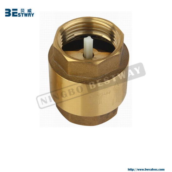 Brass Spring Check Valve/ Brass Vertical Check Valve pictures & photos
