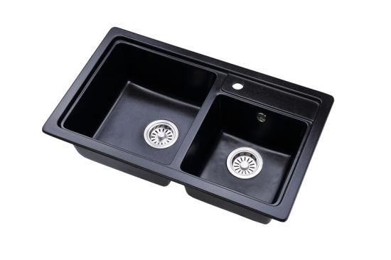 Top Quality Undermount Granite Kitchen Sink Two Bowl China Granite Sink Black Sink Made In China Com