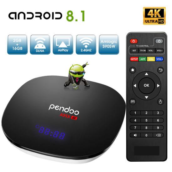 Pendoo X10 4K S905W 64bit Android 7.1.2  2G+16GB DDR4 Wifi 3D Smart TV Box