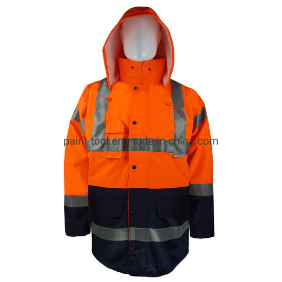 Men 's Waterproof Dust-Proof Reflective Work Jacket Safety Uniform