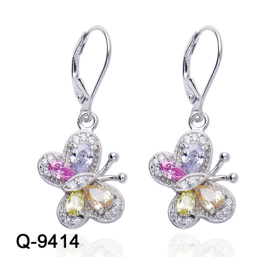 New Fashion Jewellery 925 Sterling Silver or Brass Multicolor CZ Earrings for Girls pictures & photos