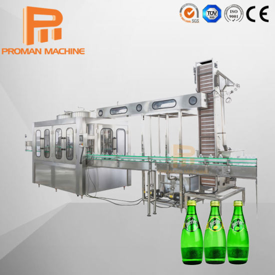 Turnkey Fully Automatic Glass Bottle Sparkling Water Filling Production Line/3-in-1 Fruit Juice Soda Soft Carbonated Drink Beverage Bottling Plant Machine Price