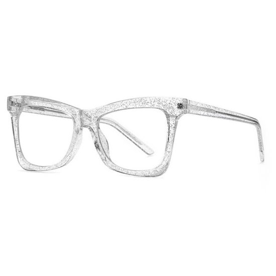 Trendy Women's Anti-Blue Glasses Frame Big Frame Shinning Street Fashion Optical Tr90 Eyewear Frame Ready to Ship