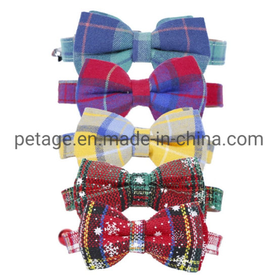 Pet Accessories Holiday Christmas Products Leather PU Cat Dog Collars