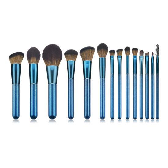 Hot Now Diamond Blue 14PCS Cosmetics Makeup Tools Beauty Makeup Brushes