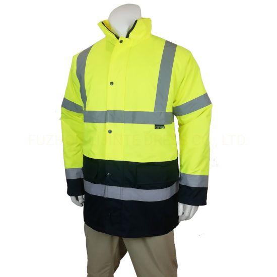 En20471 High Visibility Reflective Padding Keep Warm Safety Workwear