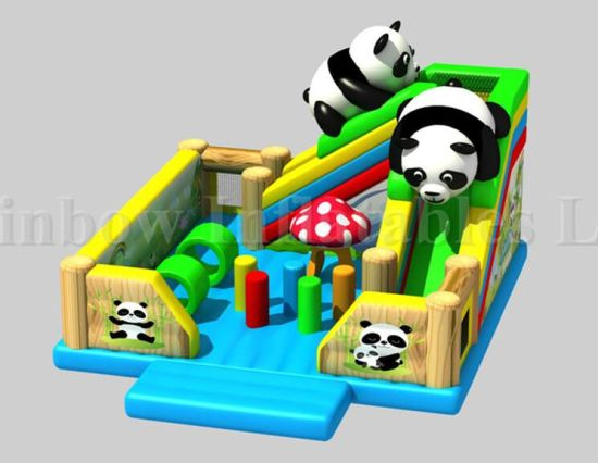 New Design Commericial Inflatable Panda Bouncy Park Playground for Kids pictures & photos