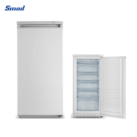 Smad 152L Single Door 6 Drawers Vertical Upright Freezer for Home Use