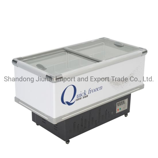 1.6m Cooling Seafood Dumplings with Cover Island Frozen Freezer