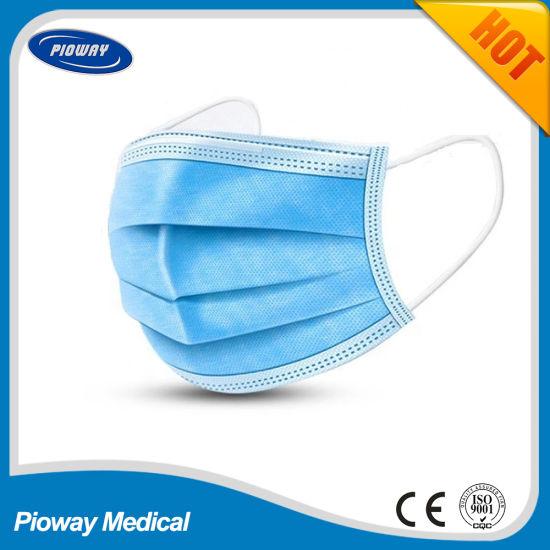 Disposable Consumables 3-Ply Non-Woven Face Mask