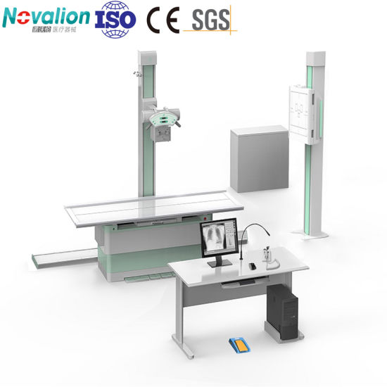 High Frequency Medical Fixed Floor Mounted Flat Panel Digital X-ray Radiography Machine