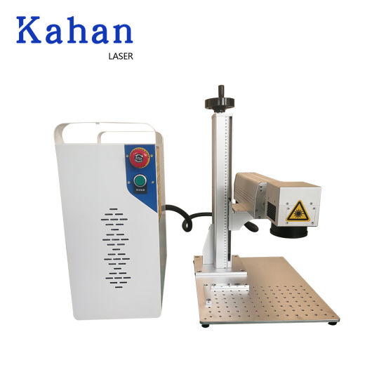 20W 30W 50W Cheap Industrial Mini Logo Printing Engraving Marker PVC ID Card Raycus Desktop Portable 3D Fiber Laser Marking Machine with Rotary Price