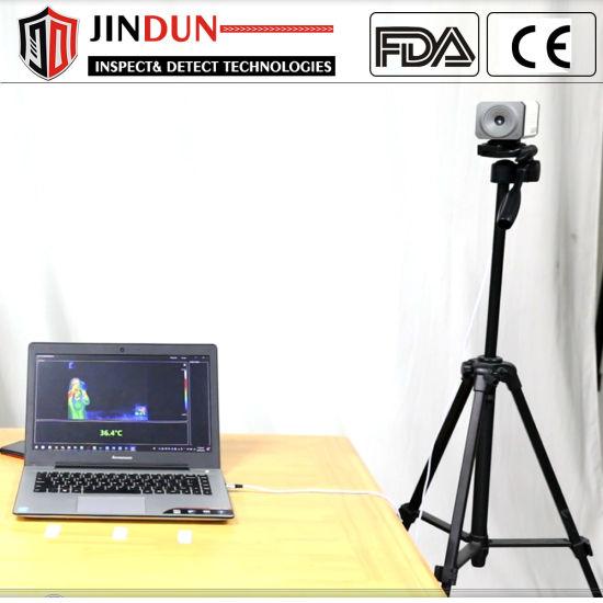 Subway Train Station Airport Non-Contact Human Body Temperature Detection Thermal Camera