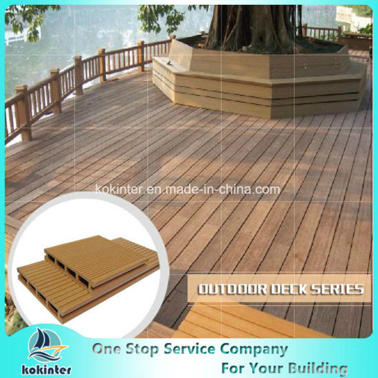 Wood Plastic Composite Decks Crack-Resistant Decking Hollow Outdoor WPC Board pictures & photos