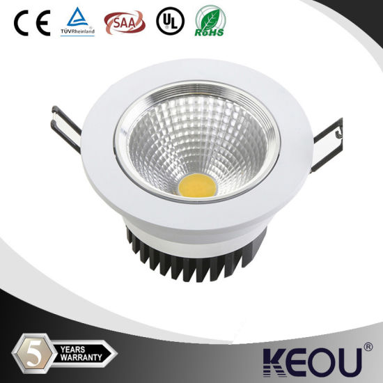 30/45/60degree 3/4/7/9/12/15/18watt COB LED Downlight pictures & photos