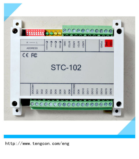 China Data Acquisition Unit Stc-102 (16DO) with RS485 Modbus