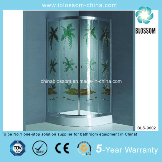 Modern Colorful Glass Bathroom Shower Cabin (BLS-9602)