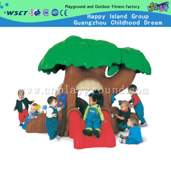 Lovely Tree House Plastic Slide for Kids Play (M11-09502)