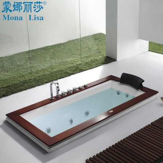 china drop-in whirlpool jacuzzi jets soaking acrylic bathtub (m-2039