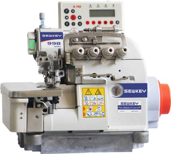 Sk988-Qd-4t-24-Ut Computer Direct-Drive Trimming Overlock Sewing Machine