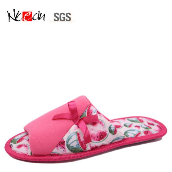 Cheap Wholesale Design Fancy Cozy Pink Bedroom Slippers for Women